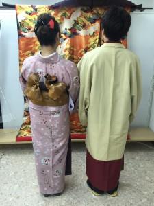 11月26日の着物レンタルのお客様 京都レンタルきもの古都1