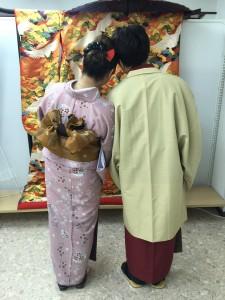 11月26日の着物レンタルのお客様 京都レンタルきもの古都2