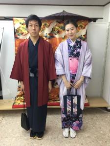 11月26日の着物レンタルのお客様 京都レンタルきもの古都3