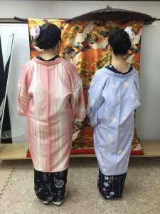11月27日の着物レンタルのお客様 京都レンタルきもの古都1
