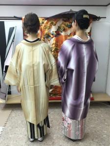 11月28日の着物レンタルのお客様 京都レンタルきもの古都1