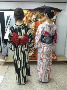 11月28日の着物レンタルのお客様 京都レンタルきもの古都2