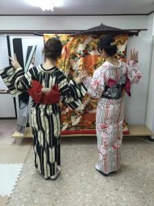 11月28日の着物レンタルのお客様 京都レンタルきもの古都3
