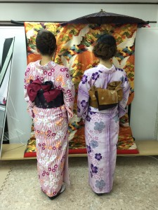 11月29日の着物レンタルのお客様 京都レンタルきもの古都1