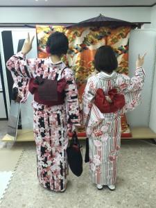 11月30日の着物レンタルのお客様 京都レンタルきもの古都2