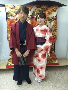 11月30日の着物レンタルのお客様 京都レンタルきもの古都3