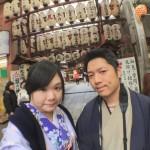 着物レンタルで京都仏光寺や錦市場へ!4