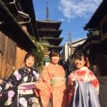 京都祇園白川の桜と着物レンタル2016年3月26日16