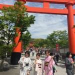 京都の着物レンタルで週末の団体女子旅行♪2016年4月23日16