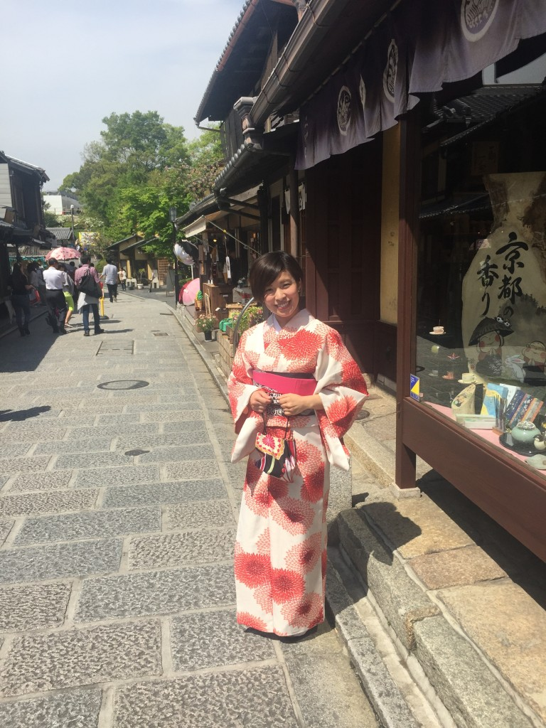 京都の着物レンタルで週末の団体女子旅行♪2016年4月23日15