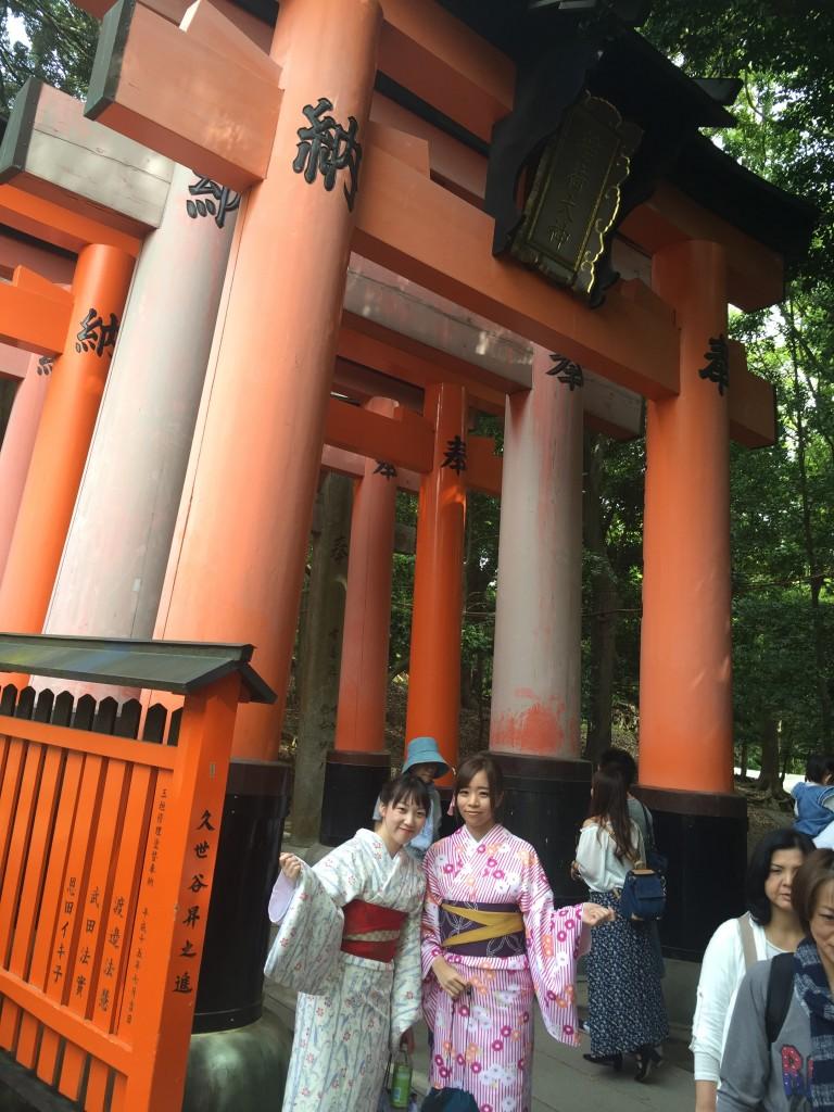 京都の着物レンタルで週末の団体女子旅行♪2016年4月23日17