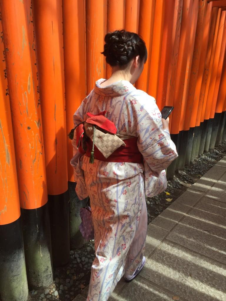 京都の着物レンタルで週末の団体女子旅行♪2016年4月23日18