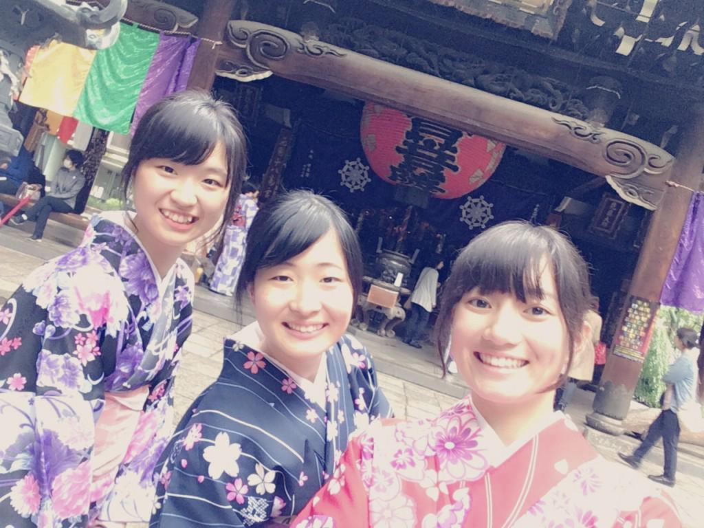 大阪からの高校生1クラス全員で着物レンタル♪2016年4月28日21
