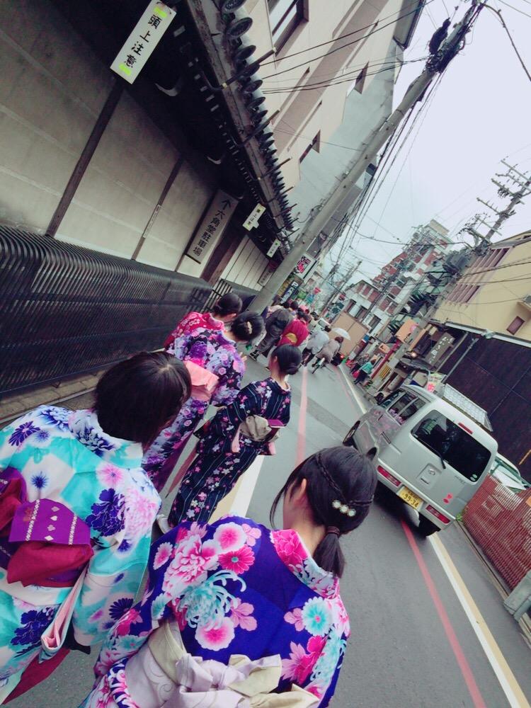 大阪からの高校生1クラス全員で着物レンタル♪2016年4月28日16