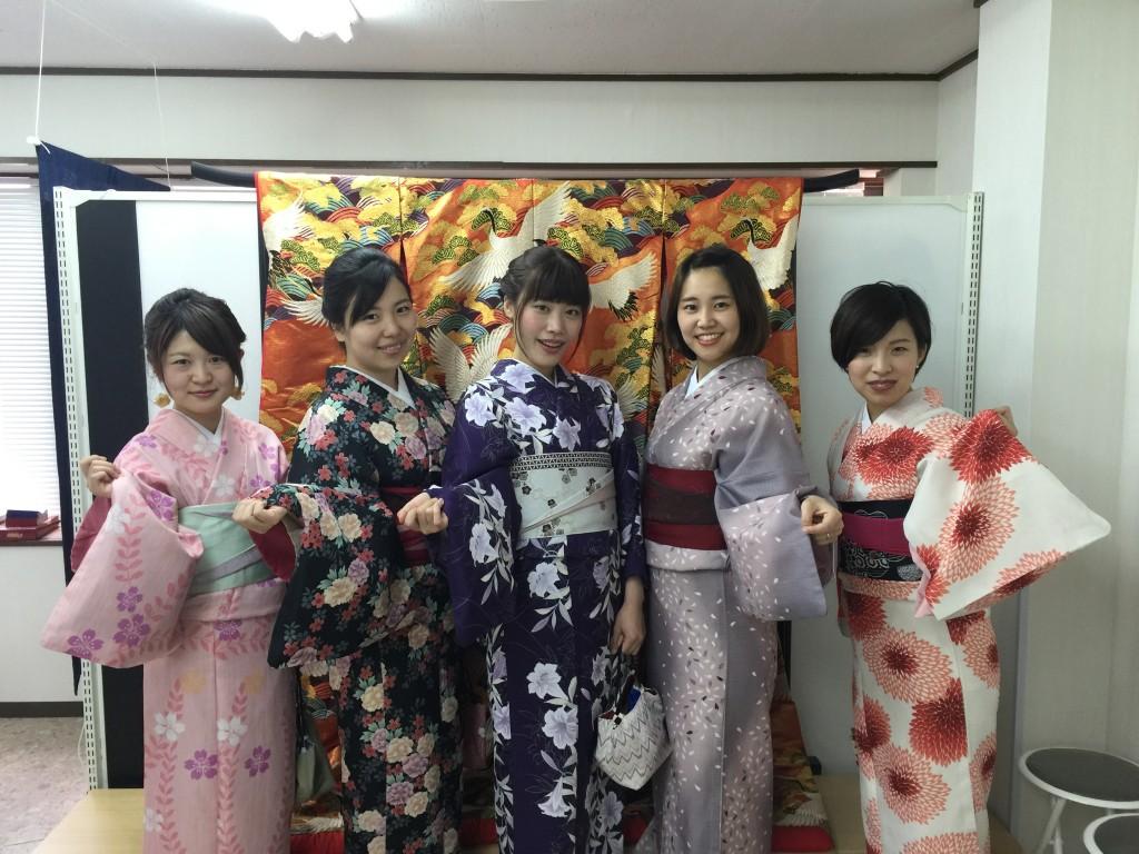 京都の着物レンタルで週末の団体女子旅行♪2016年4月23日2