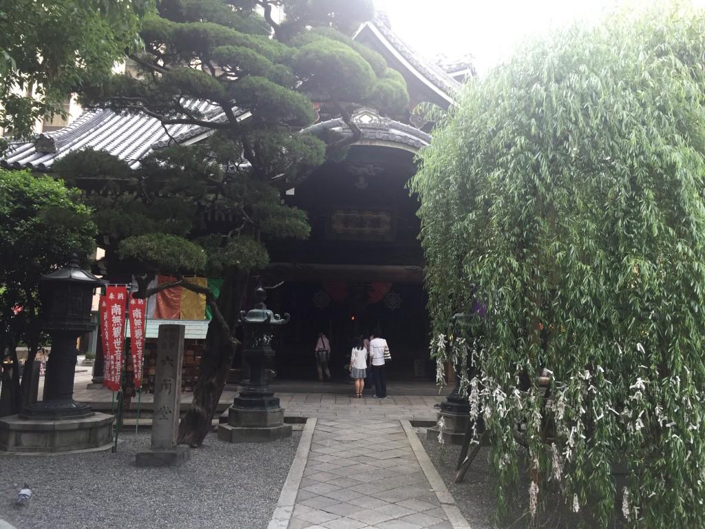 六角堂(頂法寺)の柳にで願いかけを!2