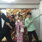 浴衣で「京都 食とアートのマーケット in 東本願寺」2016年8月20日2