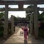 浴衣で「京都 食とアートのマーケット in 東本願寺」2016年8月20日22