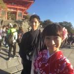 羽織も着て清水寺・祇園周辺を散策♪2016年10月24日1