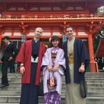 ニュージーランドから京都で着物レンタル♪2016年10月29日13