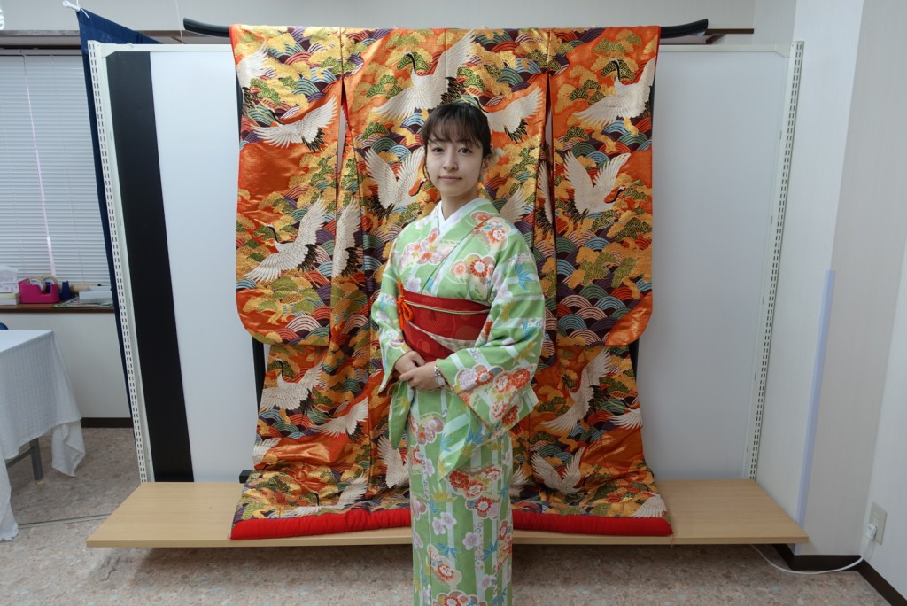 雨の京都を着物でお出掛け♪2016年11月27日1