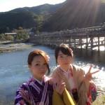 京都で人気の観光スポット嵯峨嵐山へ♪2016年11月2日9