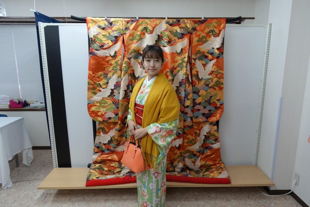 雨の京都を着物でお出掛け♪2016年11月27日3