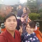 フィリピンから着物レンタルで神泉苑へ❣2016年12月7日10