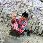 フィリピンから着物レンタルで神泉苑へ❣2016年12月7日15