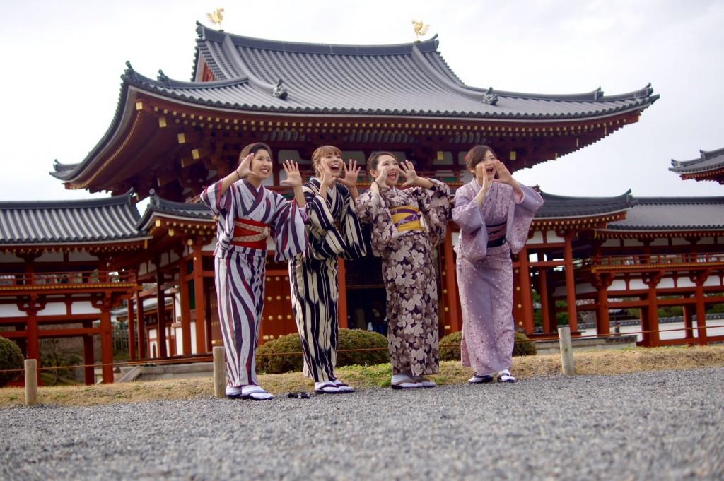 みんなで京都宇治 平等院鳳凰堂へ2016年12月24日10