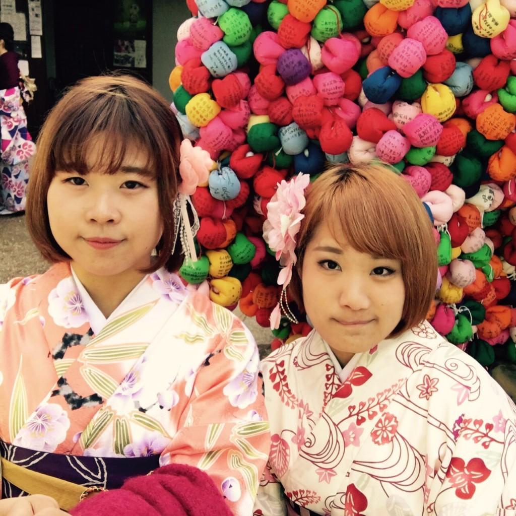 韓国から着物レンタル!京都で舞妓さんと❣2016年12月25日14