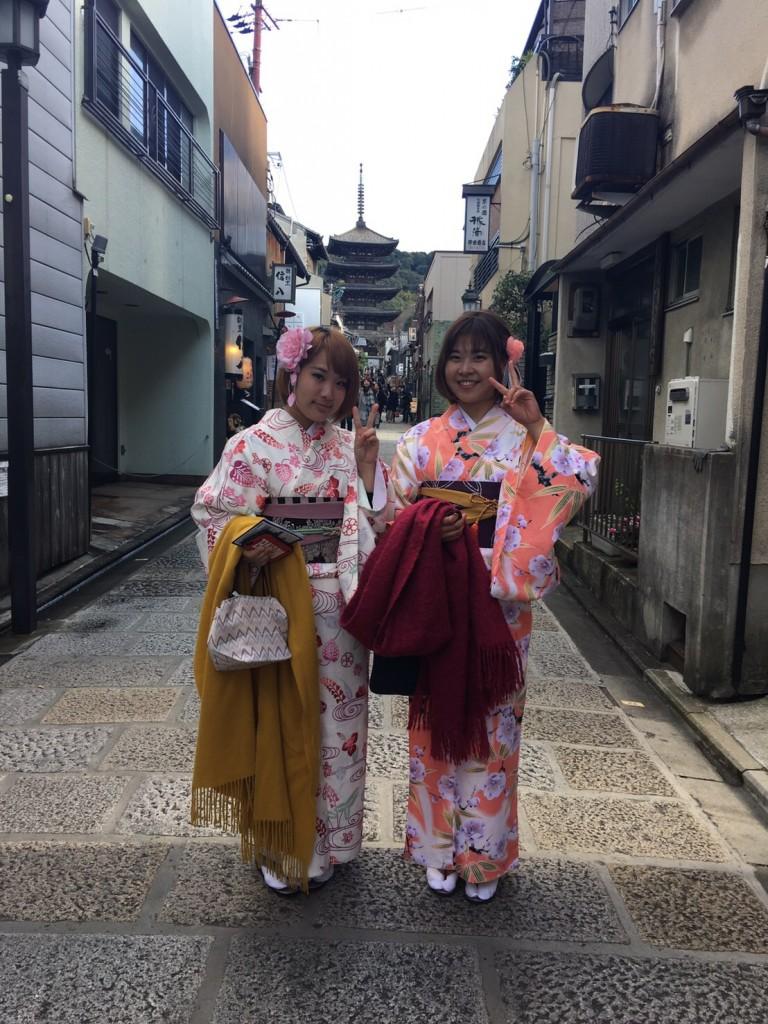 韓国から着物レンタル!京都で舞妓さんと❣2016年12月25日17