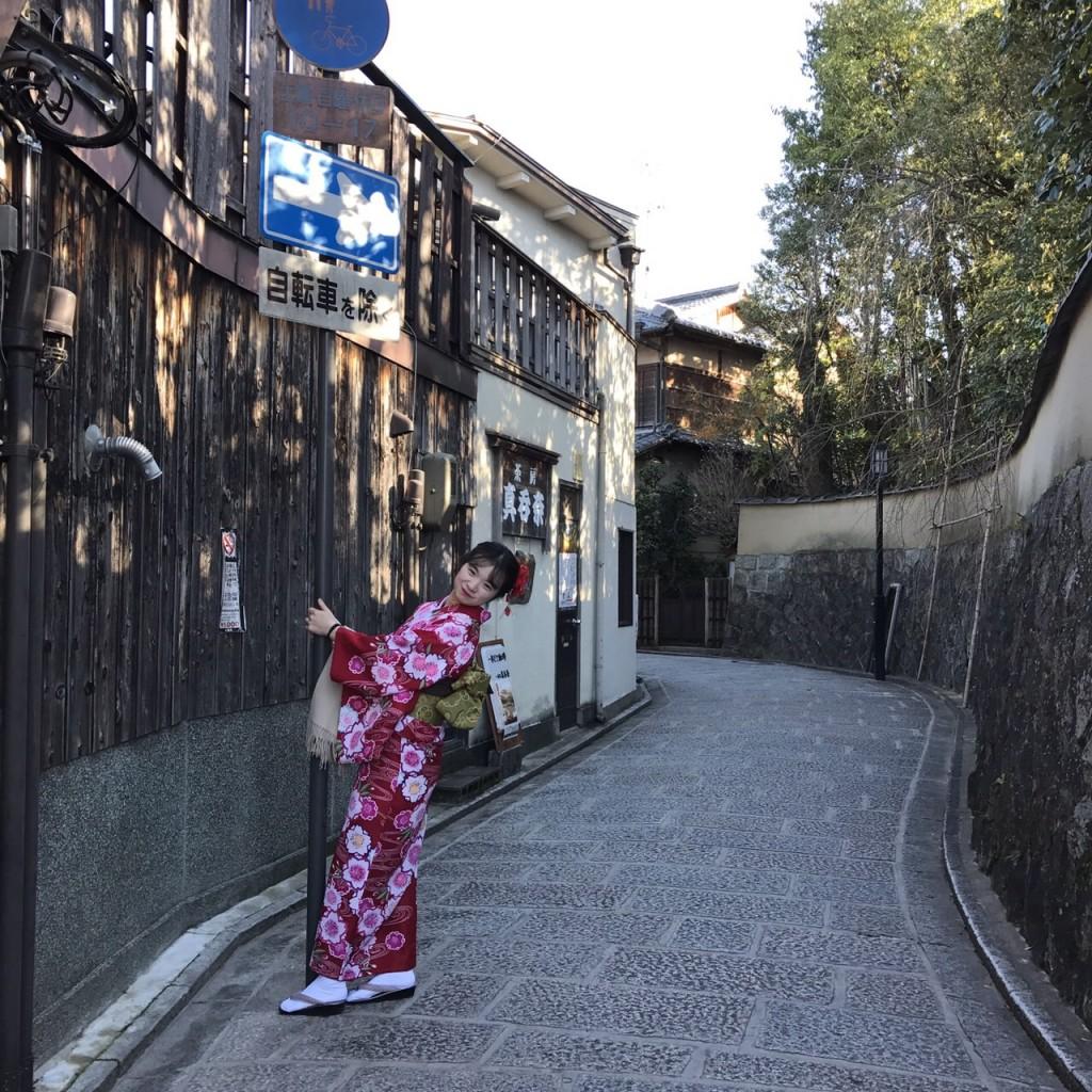 韓国から着物レンタル!京都で舞妓さんと❣2016年12月25日18