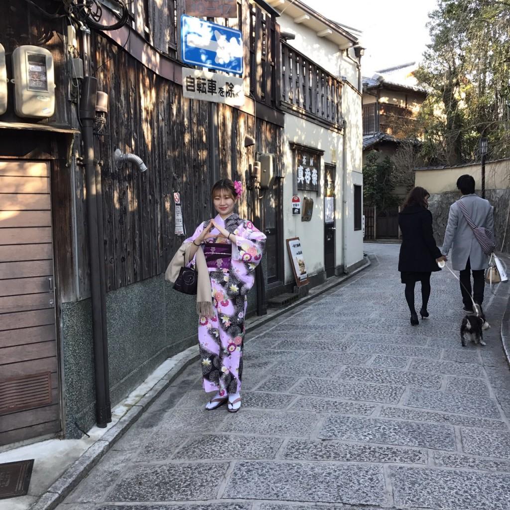 韓国から着物レンタル!京都で舞妓さんと❣2016年12月25日19