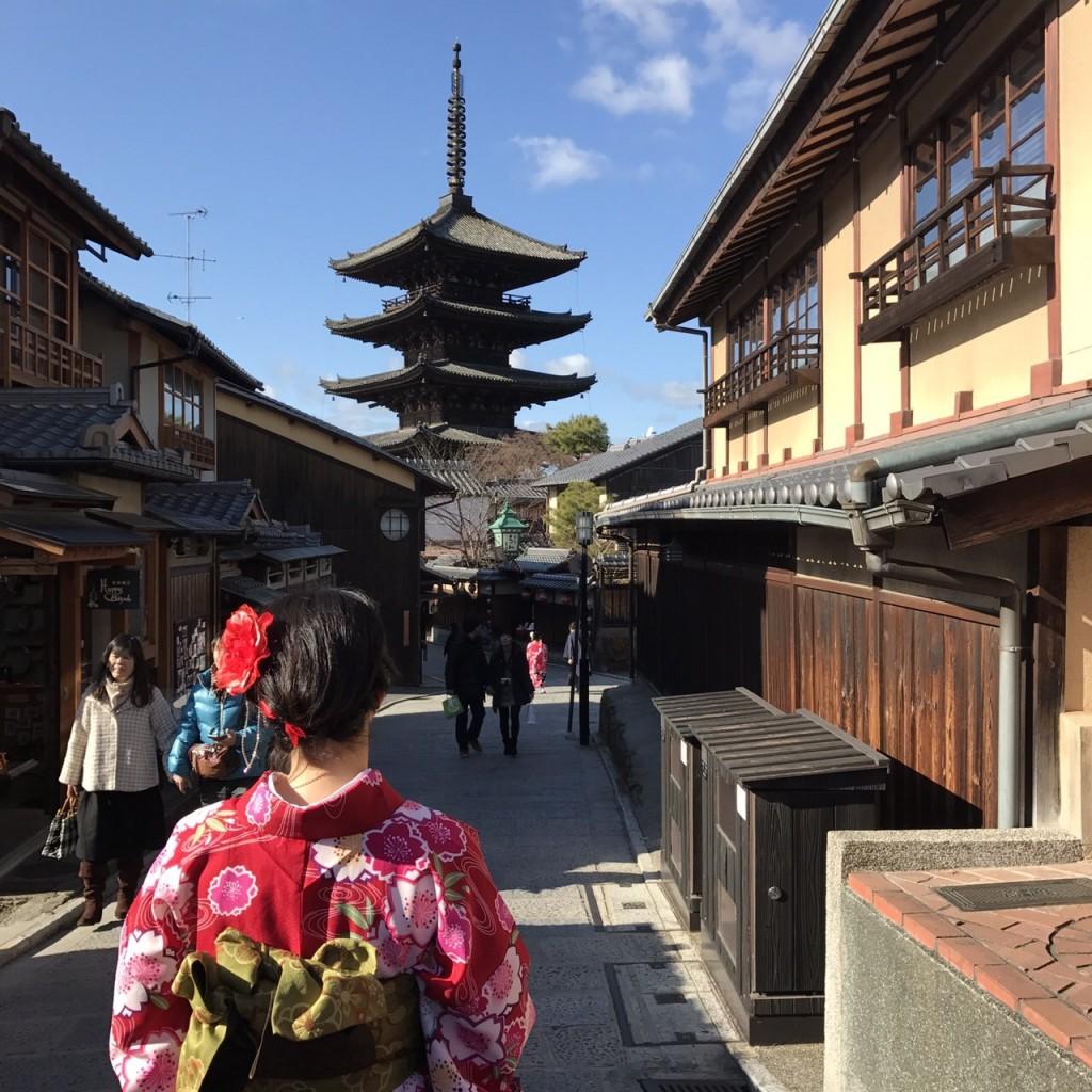 韓国から着物レンタル!京都で舞妓さんと❣2016年12月25日24