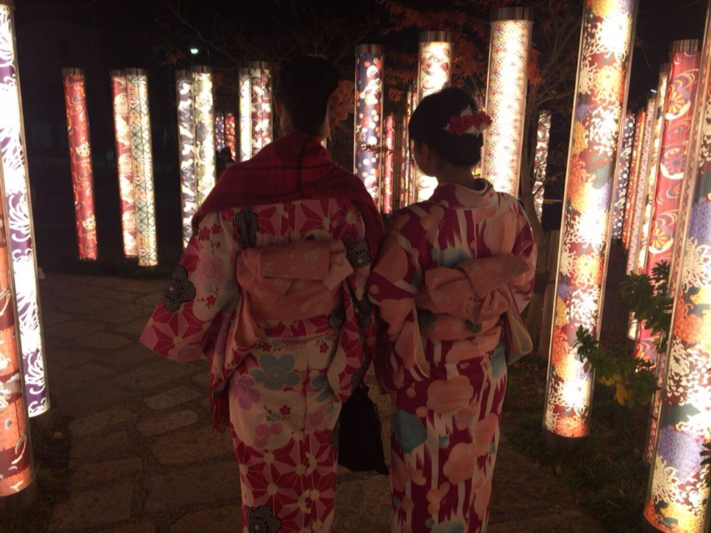 韓国から着物レンタル!京都で舞妓さんと❣2016年12月25日31