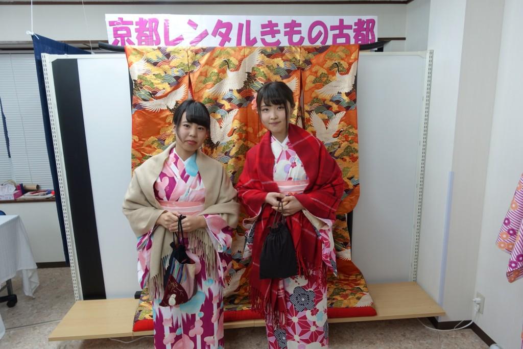 韓国から着物レンタル!京都で舞妓さんと❣2016年12月25日13