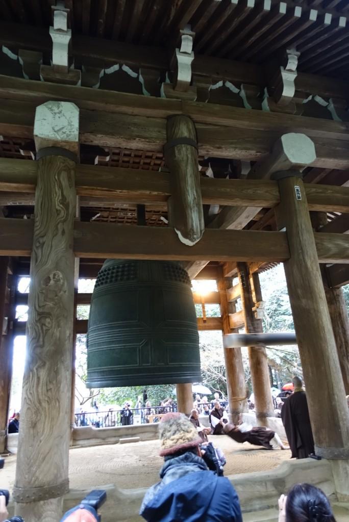 NHKゆく年くる年おなじみ京都 知恩院の除夜の鐘!試し撞き2016年12月27日3