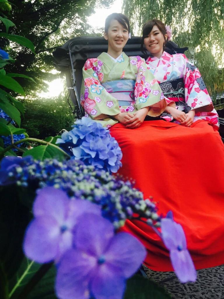 浴衣レンタルで藤森神社のあじさいを♪2017年6月13日7