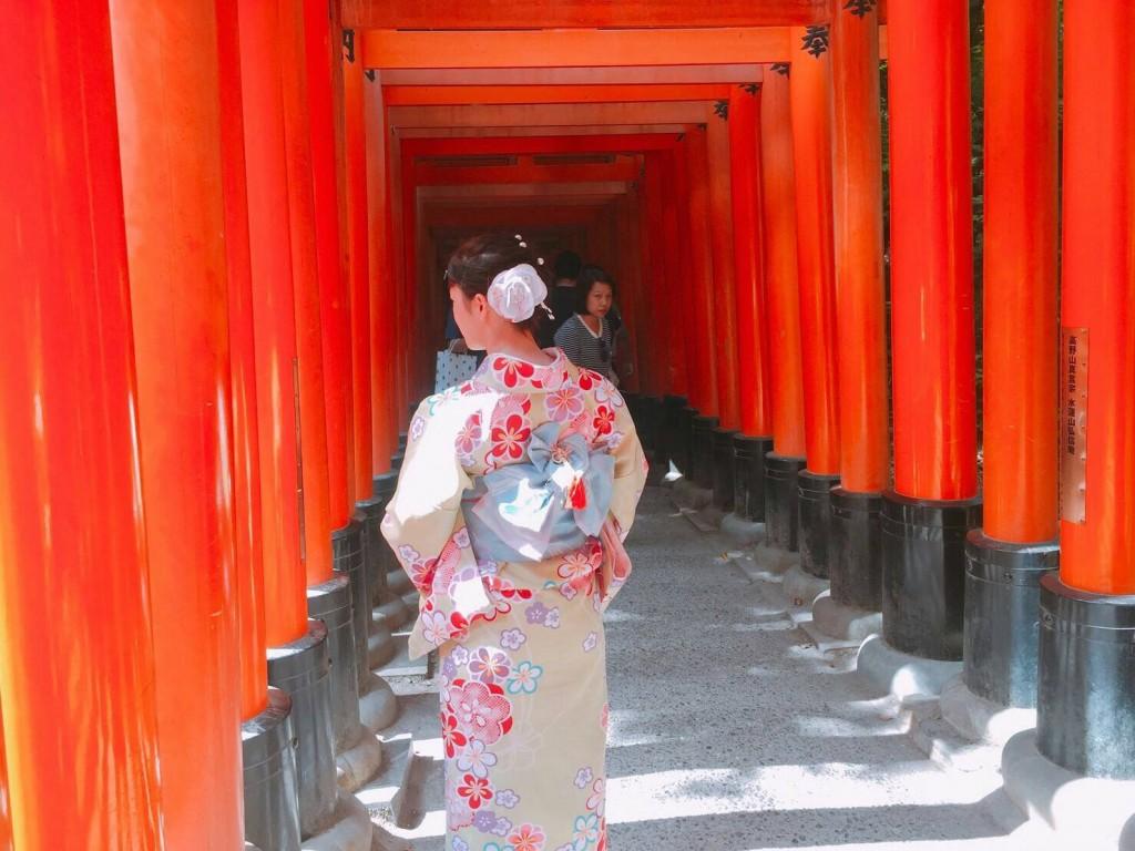 浴衣レンタルで藤森神社のあじさいを♪2017年6月13日9