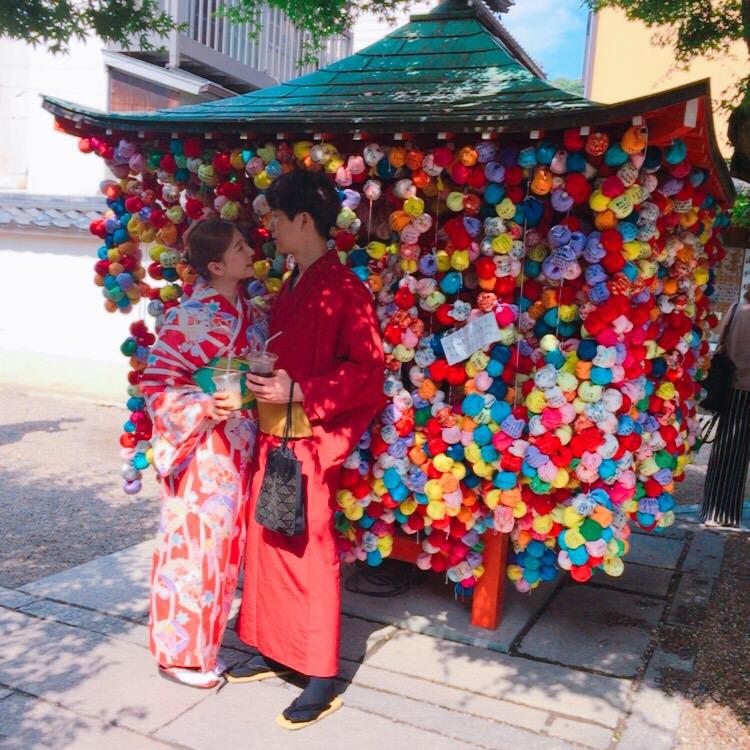 韓国から着物レンタルで八坂庚申堂へ♪2017年6月28日3
