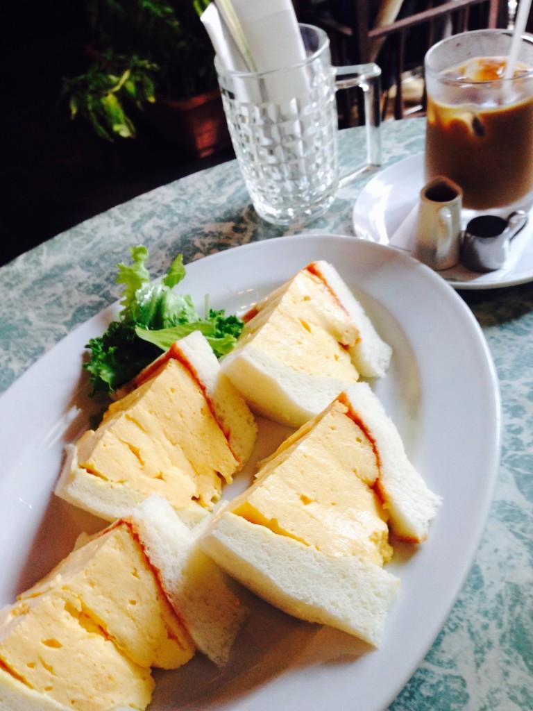 喫茶 la madrague(マドラグ)の玉子サンド2