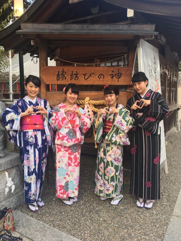 女子高生♡八坂神社で縁結び❣2017年9月24日5