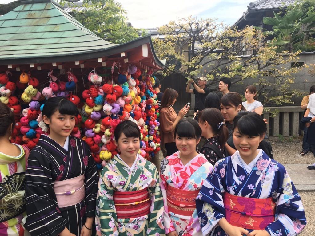 女子高生♡八坂神社で縁結び❣2017年9月24日6