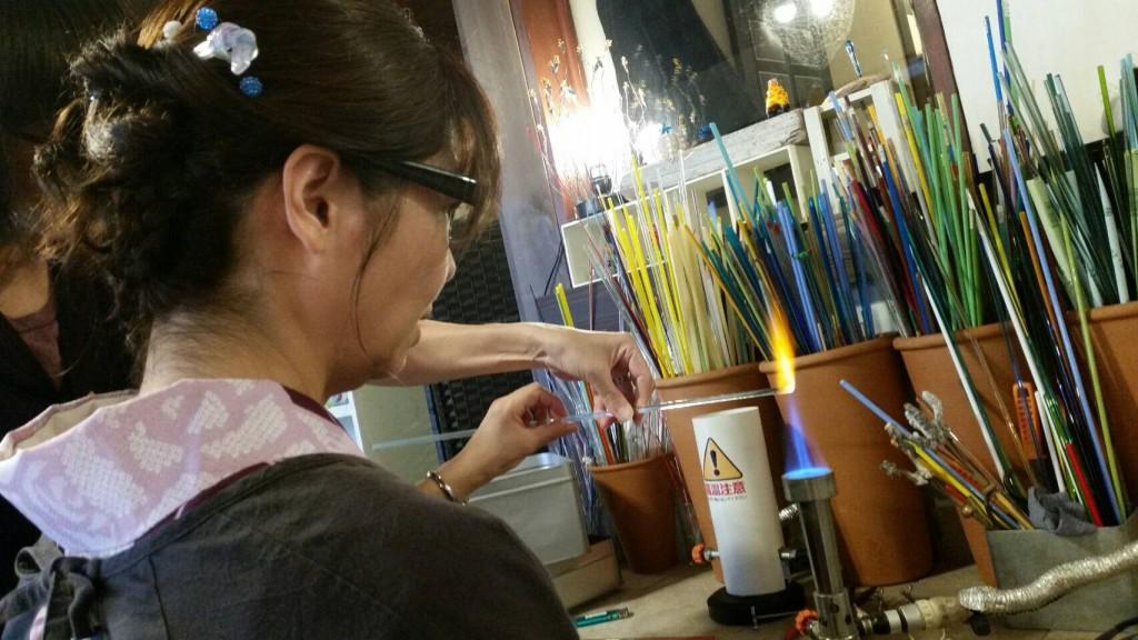 大徳寺近くガラス工房nazuna薺でガラス細工体験2017年10月9日9
