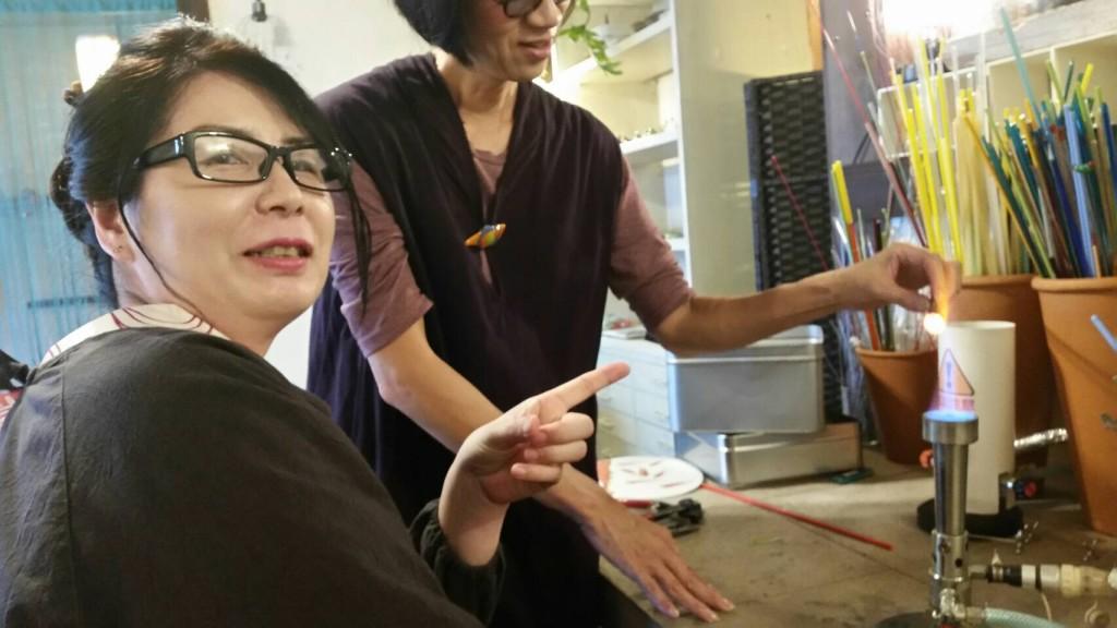 大徳寺近くガラス工房nazuna薺でガラス細工体験2017年10月9日10