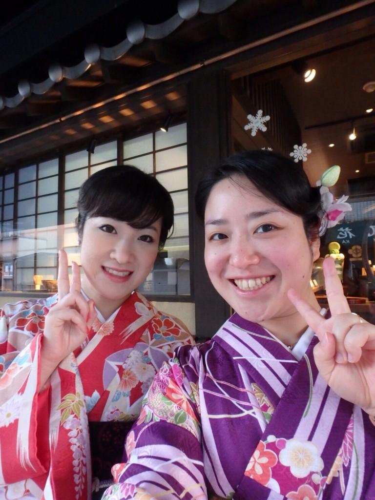 ママ友と京都で着物体験♪2017年12月3日4