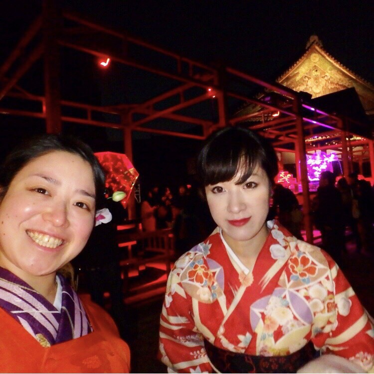 ママ友と京都で着物体験♪2017年12月3日6