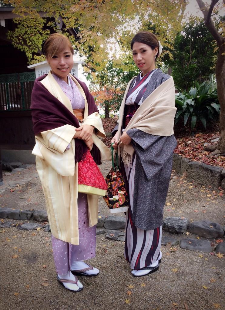 着物でランチからの下鴨神社へ❣2017年12月14日1