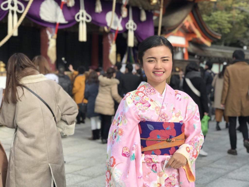 インドネシアから八坂神社や東映太秦映画村へ♪2018年1月13日4